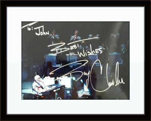 Framed Ray Charles Photo Autograph with COA
