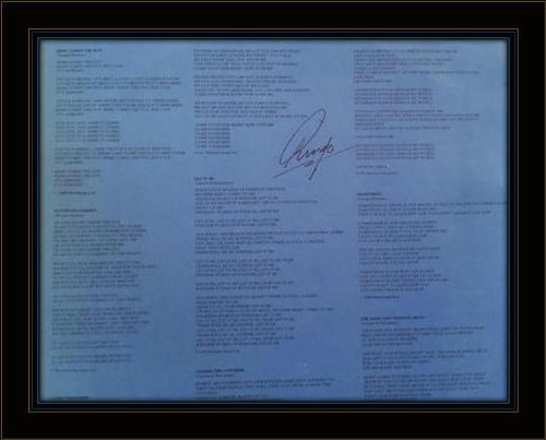 Framed Ringo Starr LP Sleeve Autograph with COA