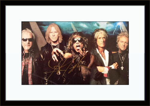 Framed Steven Tyler Aerosmith Photo Autograph with COA