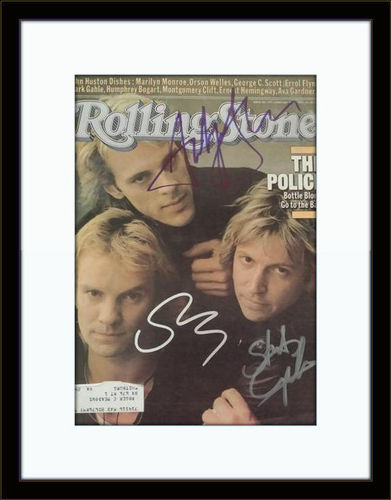 Framed The Police Rolling Stone Autograph with COA