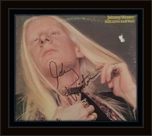 Johnny Winter Authentic Album Autograph with COA