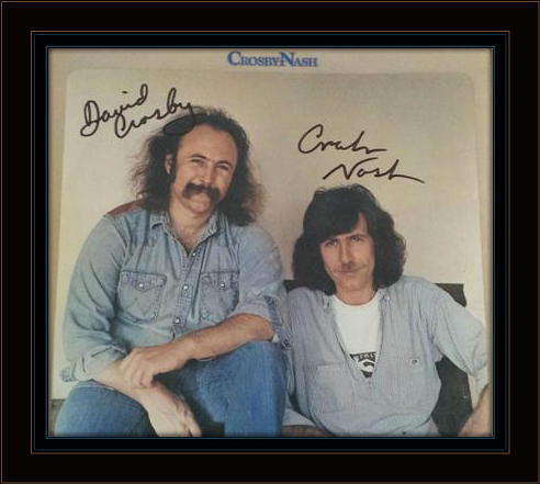 David Crosby Graham Nash Authentic Album Autograph with COA