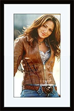 Framed Jennifer Lopez Authentic Autograph COA