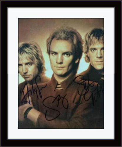 Framed The Police Photo Band Autograph with COA