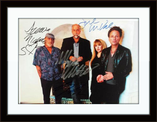 Framed Fleetwood Mac Photo Autograph with COA