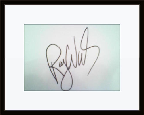 Framed Roger Waters Pink Floyd Authentic Autograph with COA