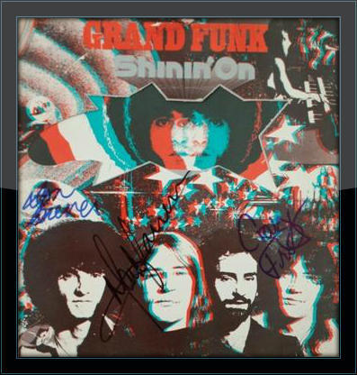 Grand Funk Entire Band Authentic Album Autograph with COA