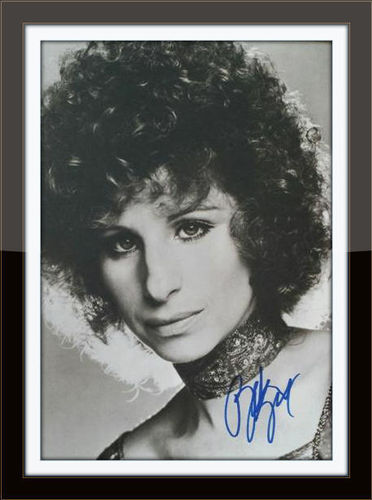 Framed Barbara Streisand 11x14 Autograph with COA