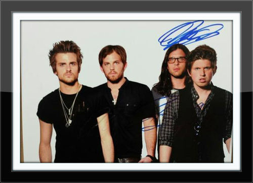 Framed Kings Of Leon 8 x 10 Autograph with COA