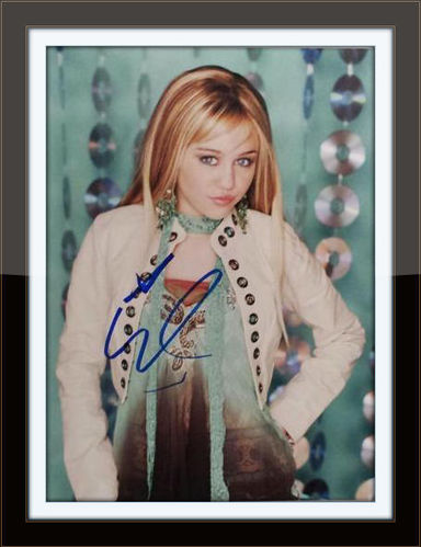 Framed Miley Cyrus Authentic Autograph with COA
