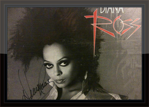 Diana Ross Swept Away Authentic Album Autograph with COA