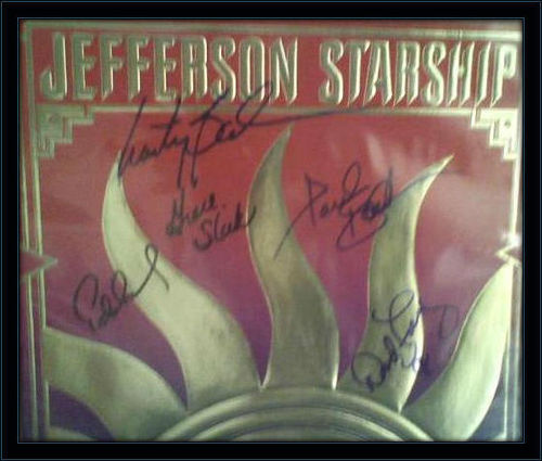 Jefferson Airplane Starship Authentic Album Band Autograph with COA
