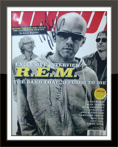Framed R.E.M Band Authentic Autograph with COA