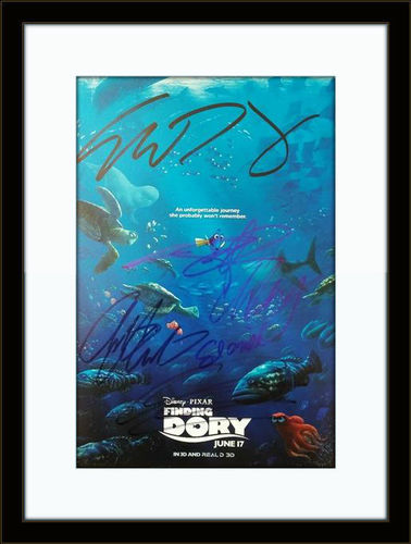 Framed Finding Dory Cast Authentic Autograph with COA