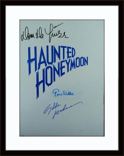 Framed Haunted Honeymoon Cast Gene Wilder Gilda Radner Dom Deluise Authentic Autograph with COA