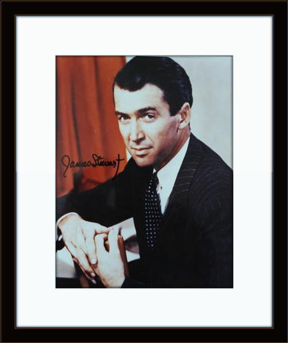 Framed Jimmy Stewart Authentic Autograph with COA