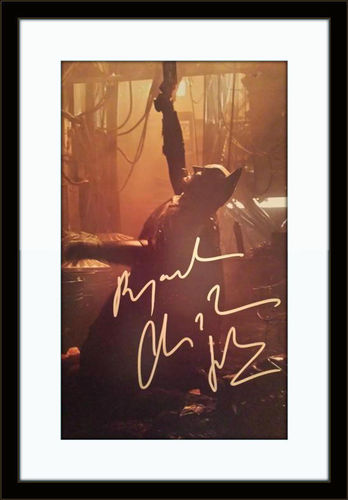 Framed Christian Bale Batman Autograph with COA