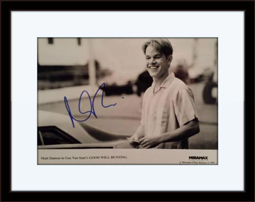 Framed Matt Damon Good Will Hunting Authentic Autograph with COA