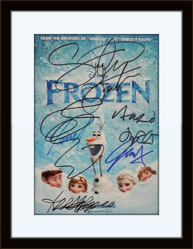 Framed Frozen Cast Authentic Autograph with COA