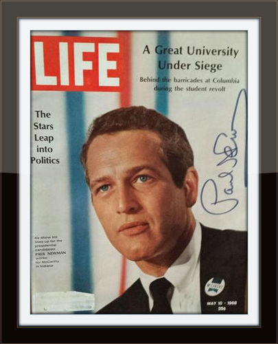 Framed Paul Newman Photo Autograph with COA