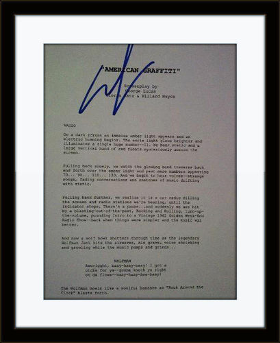 Framed George Lucas American Graffiti Authentic Autograph with COA