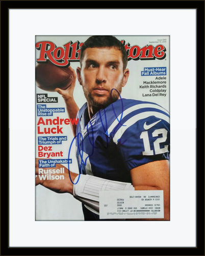 Framed Andrew Luck Autographed Magazine Cover with COA
