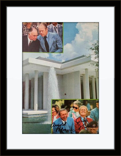 Framed Jack Nicklaus Arnold Palmer Autograph with COA