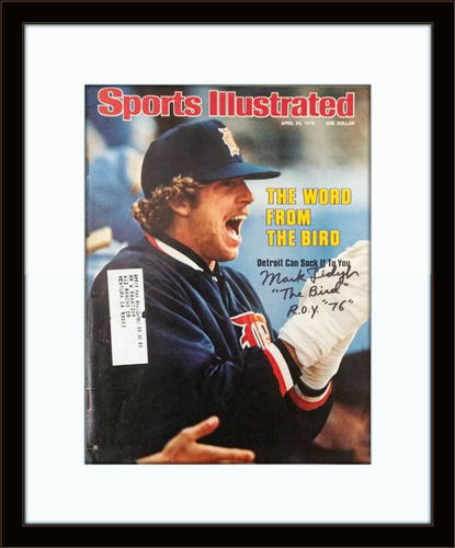 Framed Mark Fidrych Detroit Tigers Autographed Magazine Cover  COA