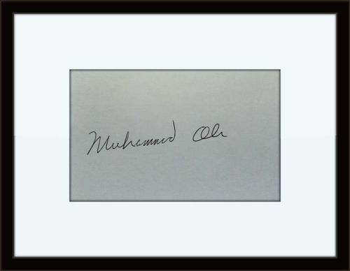 Framed Muhammad Ali Authentic Autograph with COA
