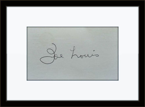 Framed Joe Louis Boxer Autograph with COA