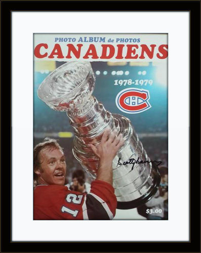 Framed Scotty Bowman Canadiens Autograph with COA