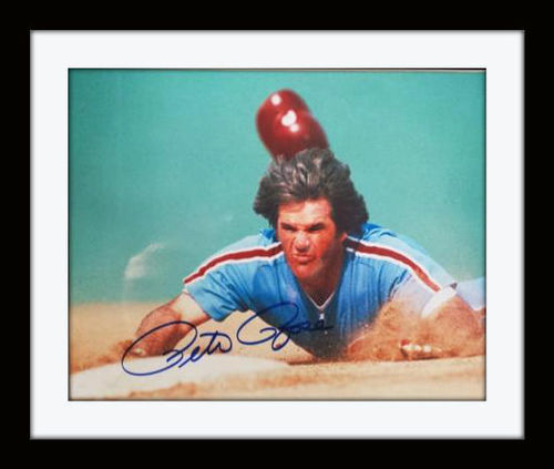 Framed Pete Rose Autograph with COA