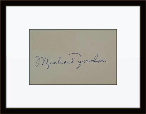 Framed Michael Jordan Very Rare 1982 Autograph with COA
