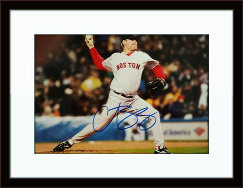 Framed Curt Schilling Photo Autograph with COA