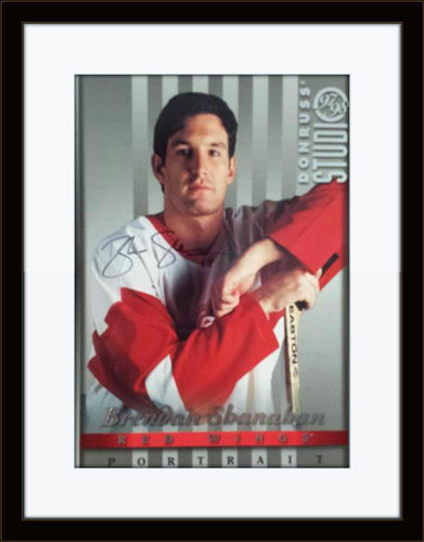 Framed Brendan Shanahan Photo Autograph with COA