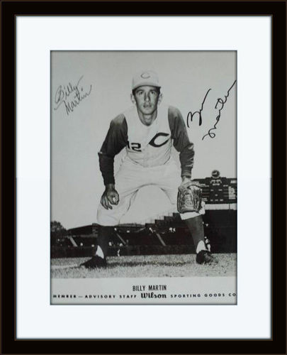 Framed Billy Martin Autograph with COA