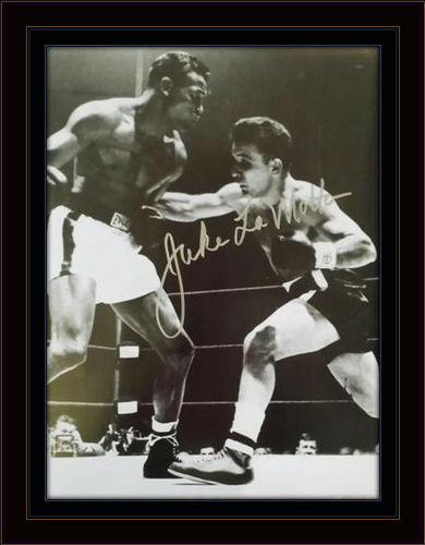 Framed Jake Lamotta Autograph with COA
