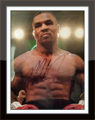 Framed Mike Tyson Photo Autograph with COA