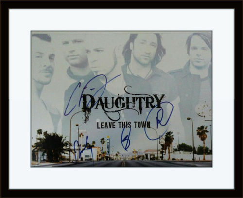 Framed Daughtry Band Photo Autograph with COA