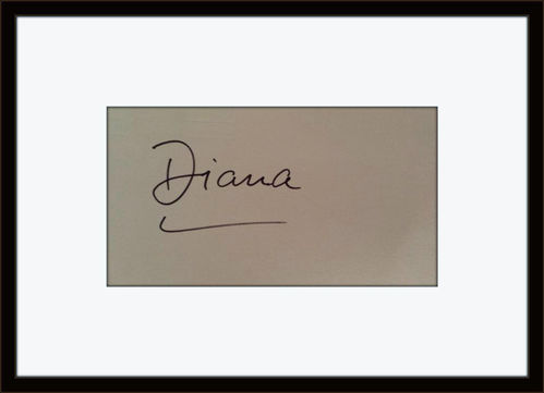 Framed Princess Diana Authentic Autograph with COA