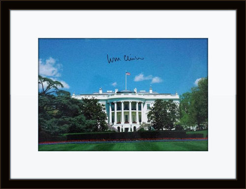 Framed Bill Clinton Authentic Autograph with COA