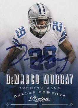 Demarco Murray Cowboys Autograph On Card with COA
