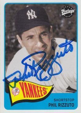 Phil Rizzuto Autograph On Card with COA