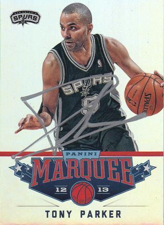 Tony Parker Autograph On Card with COA