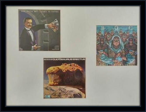 Click to open expanded view Framed Blue Oyster Cult Autograph with COA