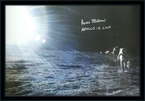 Framed Alan Bean Autograph with COA