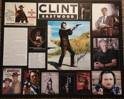 Clint Eastwood Custom Matted Collage