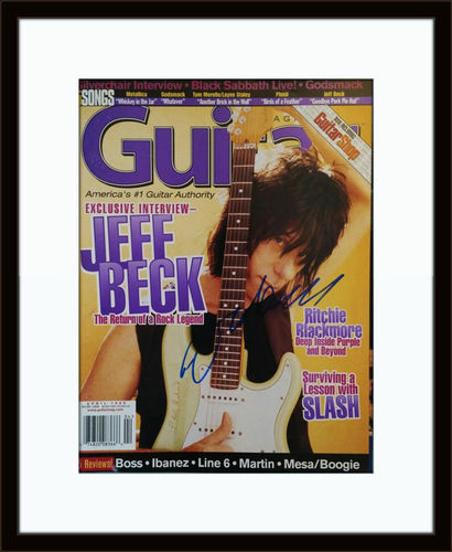 Framed Jeff Beck Authentic Autograph with COA