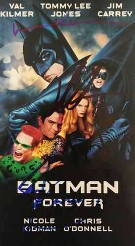 Batman Forever Cast Autograph Video Tape with COA