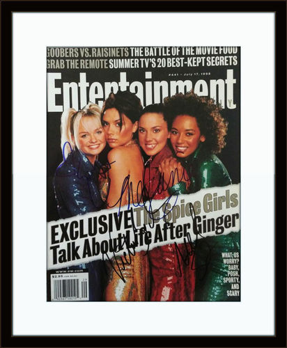 Framed Spice Girls Magazine Autograph with COA